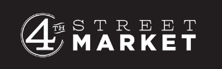 4th Street Market logo against solid black background