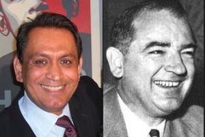 Photos of Gil Cedillo and Joseph McCarthy