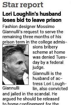 A screenshot of OC Register's article on Giannulli
