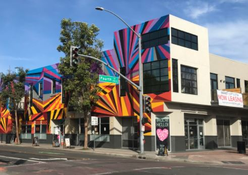 A photo of the 4th Street Market mural in DTSA