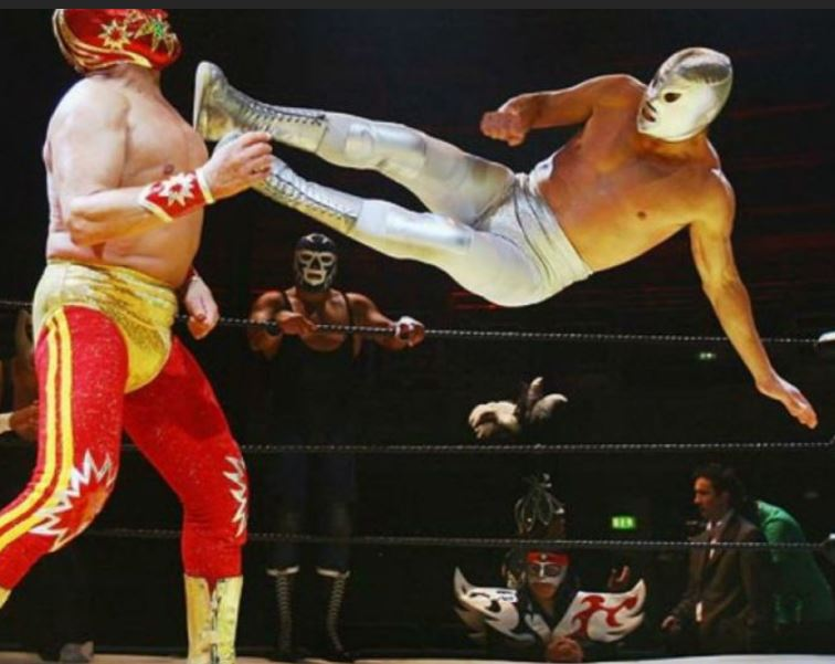 A photo of a Lucha Libre wrestling match