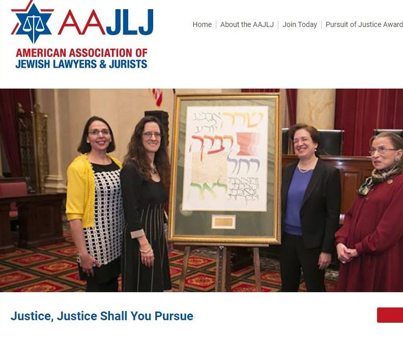 A screenshot of AAJLJ website showing the organization's slogan