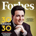 A photo of the cover of Forbes magazine with Palmer Luckey on it
